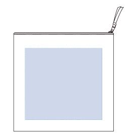 キャンバスクラッチバッグ レイアウト可能範囲:W270×H250(mm) ■シルク印刷 最大範囲:W250×H250(mm)
