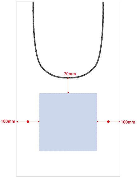 印刷可能範囲W250×H250(mm)