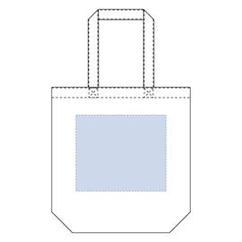 コットンバッグ(L)カラー生地 レイアウト可能範囲:W260×H220(mm)