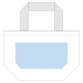 デザインスペース:W220×H110(mm) ■シルク印刷 最大範囲:W220×H110(mm)