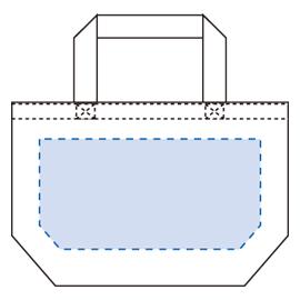 キャンバストート(S)印刷範囲