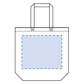 コットンツイルトート(L)印刷範囲