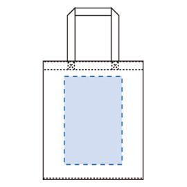 横マチ付厚手コットンバッグ(L)印刷範囲
